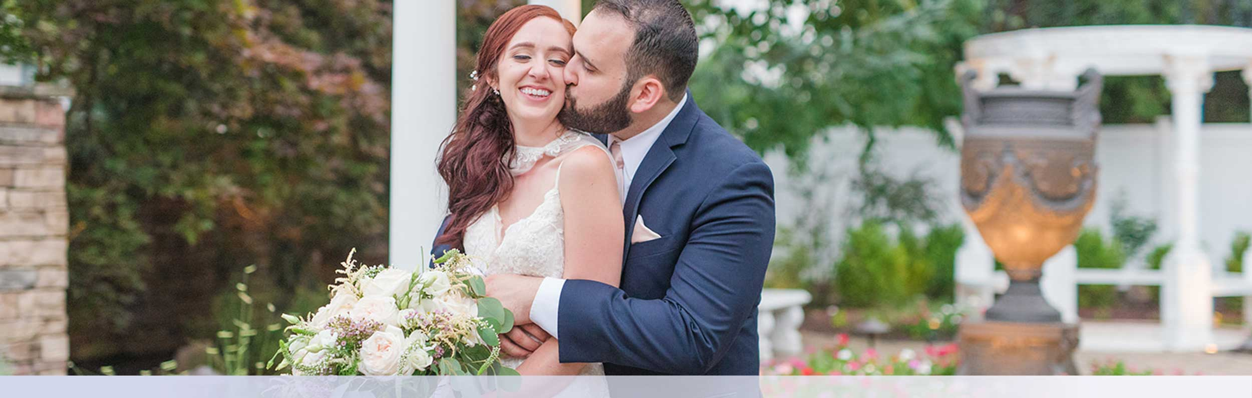Romantic Outdoor Stirling Nj Wedding Ceremony Garden