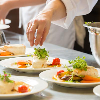 Chefs Preparing Catering Meals