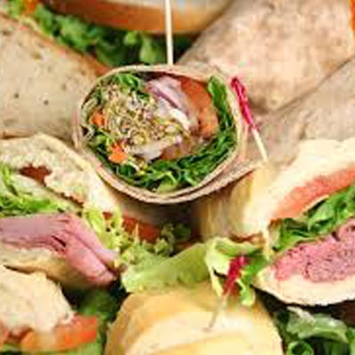 Lunch Buffet of Sandwiches and Wraps