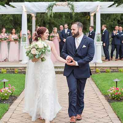 Featured outdoor wedding bride groom ceremony