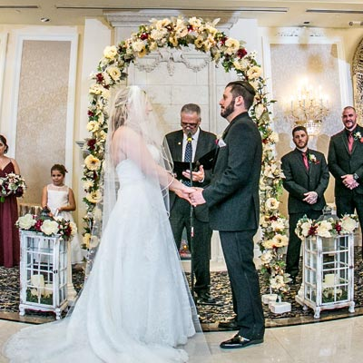 Bride Groom Ballroom Ceremony