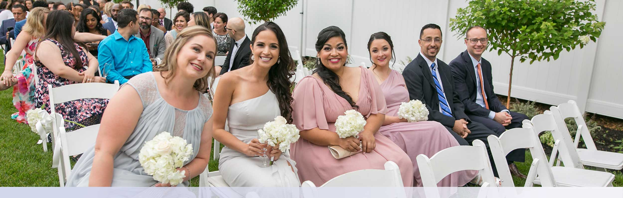 Bridesmaids Outdoor Wedding Ceremony
