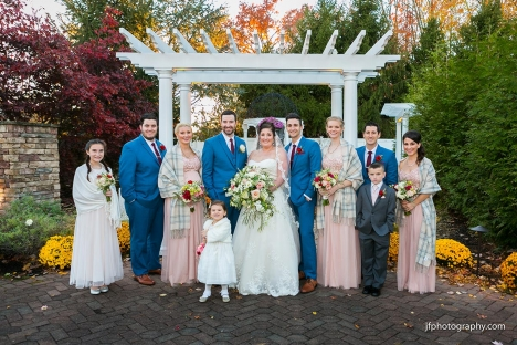 Affordable Wedding Venue Fall Bridal Party Outdoor