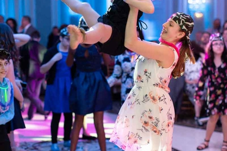Bar Mitzvah Guests Having Fun On Dance Floor