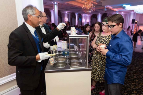 Bar Mitzvah Ice Cream Scoop Station New Jersey Catering