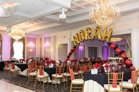 Bar Mitzvah Sweet Sixteen Themed Party With Balloons
