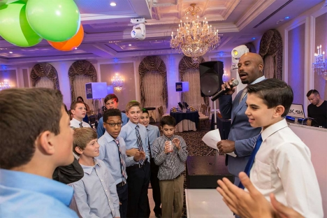 Bar Mitzvah Venue Mc With Boys Party Celebration