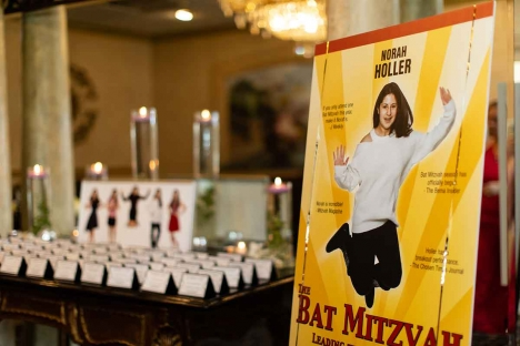 Bat Mitzvah Party Entrance Place Cards