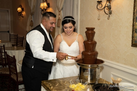 Bride Groom Chocolate Fountain Cocktail Hour