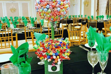 Candy Lolipop Centerpieces New Jersey Bar Mitzvah Venue