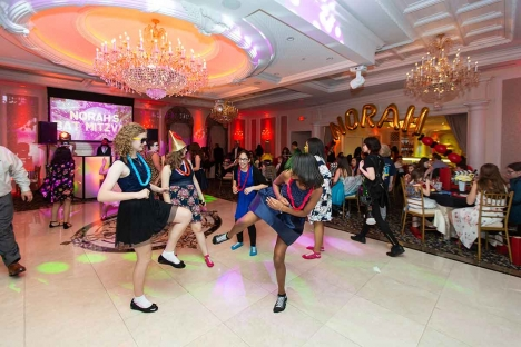 Cool Bat Mitzvah Marble Dance Floor