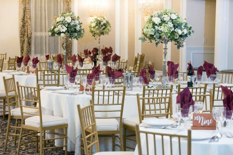 Elegant Ballroom Sit Down Dinner Event