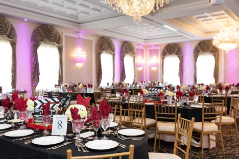 Elegant Bar Bat Mitzvah Venue Ballroom Tables