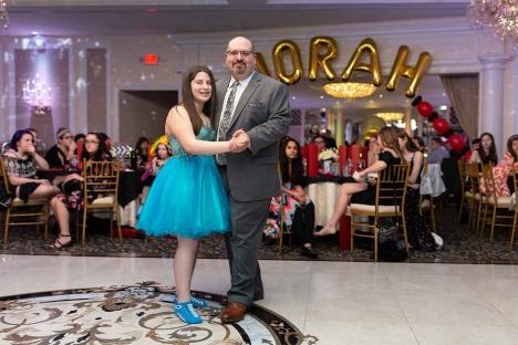Elegant Father Daughter Mitzvah Ballroom Dance