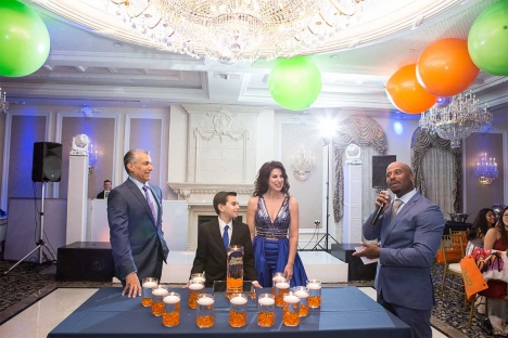 Family Tradition Bar Mitzvh Venue Candle Lighting