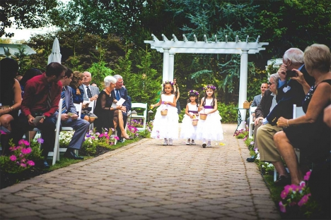 Flower Girls Aisle Outdoor Garden Wedding Ceremony