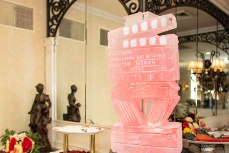 Handcarved Jewish Bar Mitzvah Ice Sculpture
