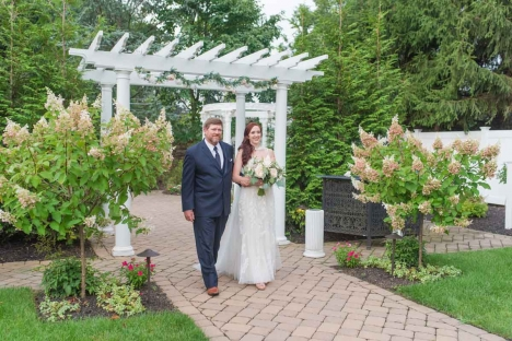 New Jersey Outdoor Wedding Ceremony Venue Father And Bride Entrance