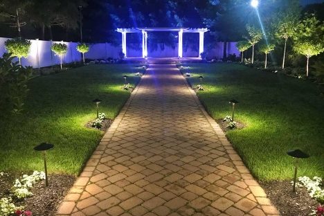 Night Outdoor Wedding Ceremony Garden