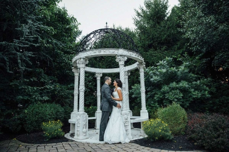 Outdoor Wedding Garden Stirling New Jersey Bride Groom