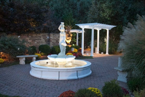 Outdoor Wedding Ceremony Garden Fountain