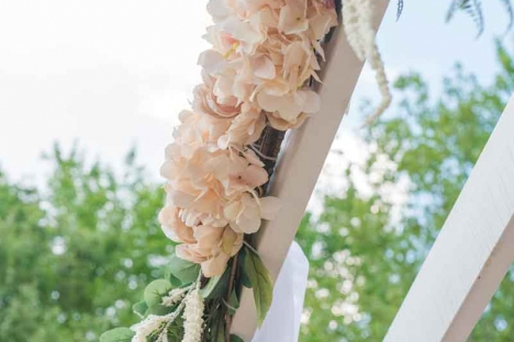 Outdoor Wedding Ceremony Venue Pergola Flowers