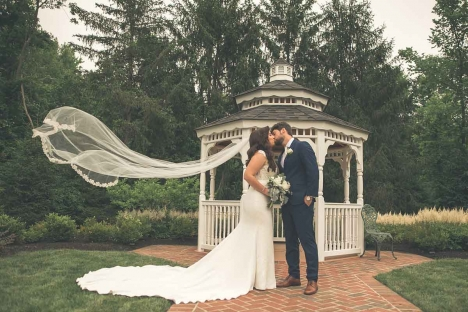 Stirling Nj Outdoor Wedding Gazebo Bride Groom