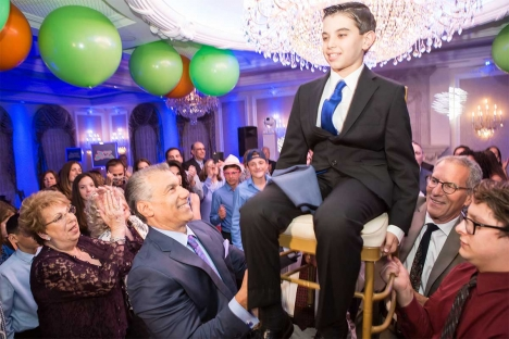 Traditional Family Jewish Chair Dance Bar Mitzvah Venue